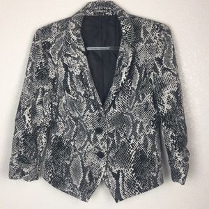 Express Blazer Snake Black White 6